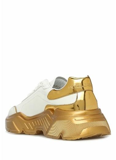 Dolce&Gabbana Dolce&Gabbana Daymasster   Logolu Kadın Deri Sneaker 101557412 Beyaz